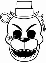 Freddy Coloring Pages Fnaf Golden Printable sketch template