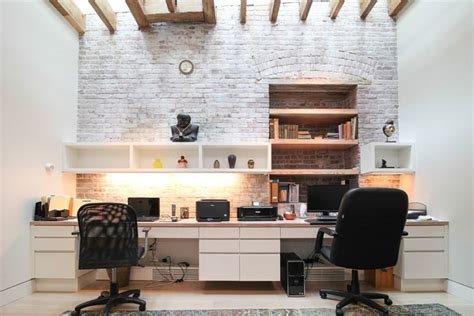 brick wall office 34 home office designs with exposed brick walls digsdigs