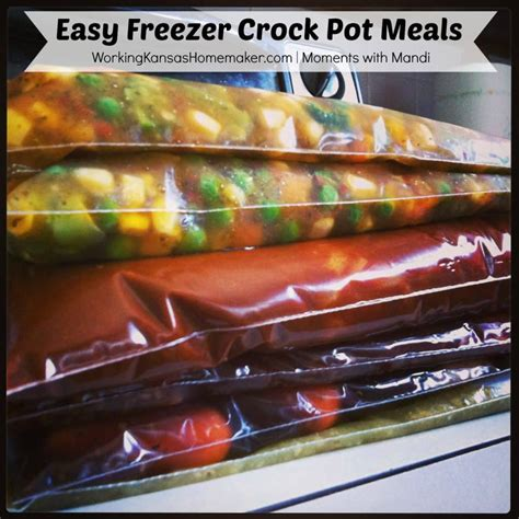easy freezer crock pot meals moments with mandi