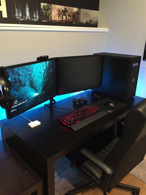 gaming computer desk for multiple monitors 540 best pc images on pinterest computer setup desk