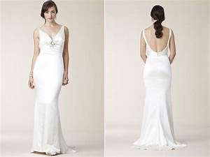 slinky silk halter sheath mermaid wedding dress open scoop With slinky wedding dress