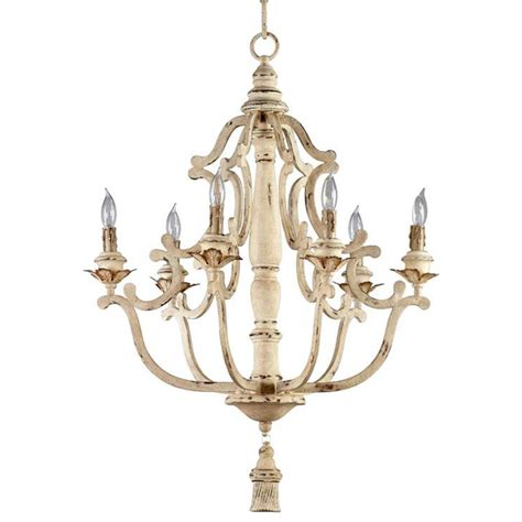 vintage white chandelier maison country antique white 6 light chandelier 3267