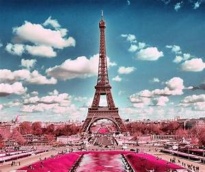 Pink Eiffel Tower Wallpaper For Android | Wallpaper Images