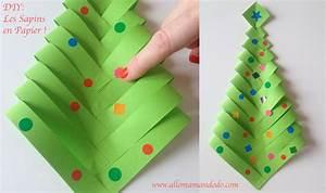 Bricolage Facile En Papier : fabrique des sapins en papier diy facile et rapide ~ Mglfilm.com Idées de Décoration