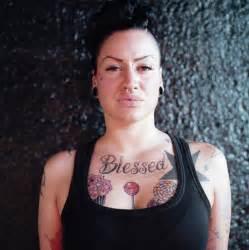 Women Chest Tattoos