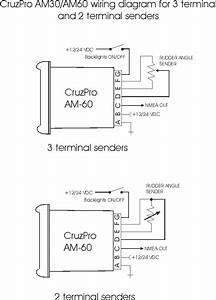 Cruzpro Am30 Digital Rudder Angle Indicator