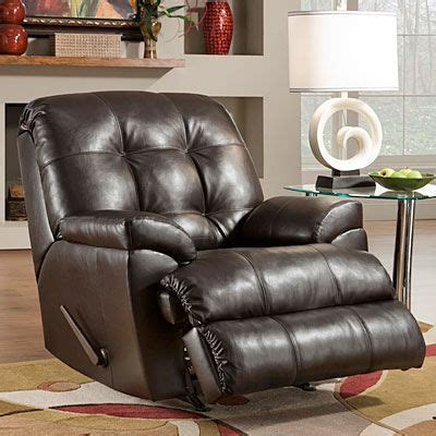 simmons 174 manhattan faux leather recliner furniture