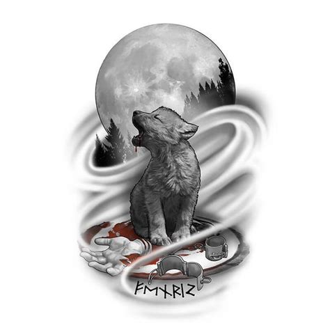 ideas  wolf tattoo design  pinterest