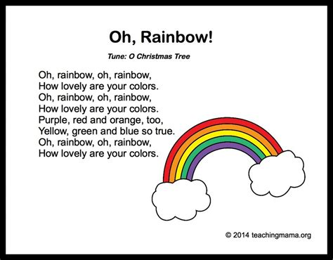 10 preschool songs about colors 578 | Oh Rainbow 1024x800
