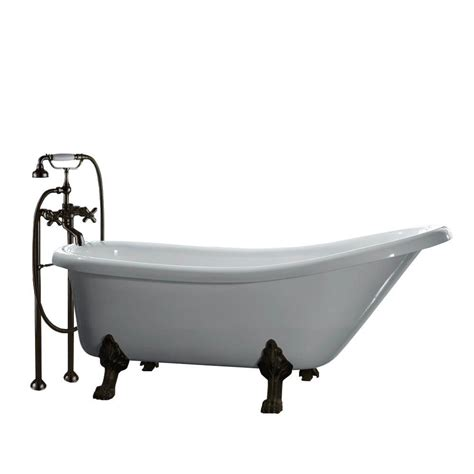 rubbed bronze kitchen faucets all in one 5 5 ft acrylic rubbed bronze clawfoot