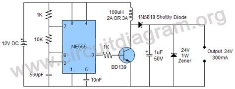 12v to 24v dc to dc converter circuit diagram