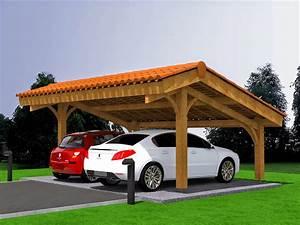 Carport 2 Voitures Bois : mod lisation projet carport bois 2 voitures avec ~ Dailycaller-alerts.com Idées de Décoration