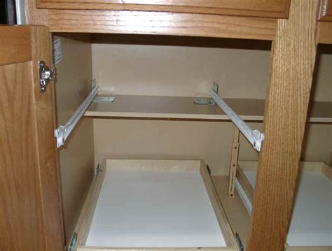 how to make kitchen cabinet pull out shelves custom pull out shelving soultions diy do it yourself