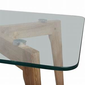 Table Verre Bois : table basse verre et bois ~ Teatrodelosmanantiales.com Idées de Décoration