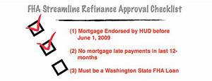 credit qualifying fha streamline refinance without appraisal With fha streamline refinance documentation checklist