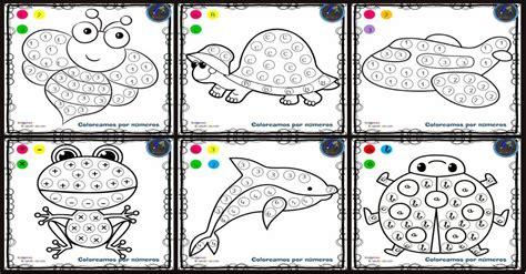 Fichas para colorear por letras números y símbolos