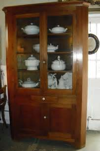 antique american corner cabinet cupboard china display