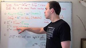 Find Equilibrium Constant Of Redox Reaction