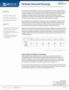 Netsuite demand planning for Netsuite document management