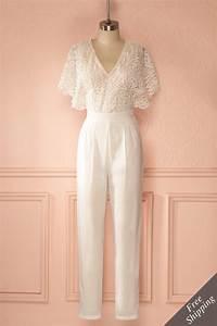Combinaison Pantalon Femme Mariage : caesarie kebaya lace wedding jumpsuit lace jumpsuit ~ Carolinahurricanesstore.com Idées de Décoration