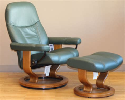Stressless Diplomat Recliner Sale by Stressless Diplomat Small Batick Green Leather By