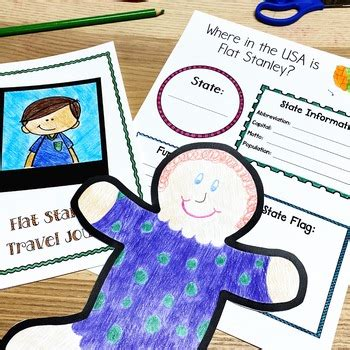 flat stanley   study project   colorful