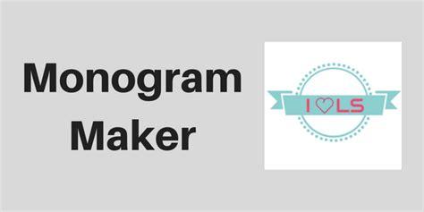 monogram maker websites