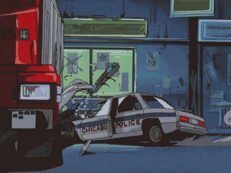 animated wrecked car crash gif