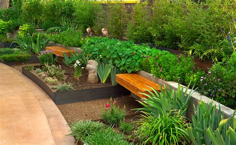 garden bench ideas landscape modern with commercial herb