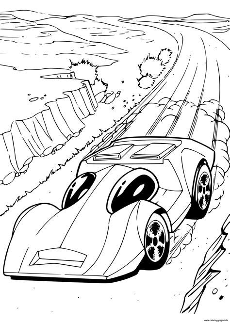 hot wheels automobile cars coloring pages printable