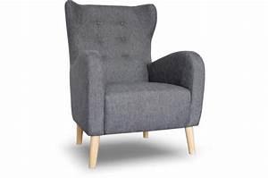 Fauteuil Haut Dossier : fauteuil scandinave dossier haut tissu anthracite alienor design sur sofactory ~ Teatrodelosmanantiales.com Idées de Décoration
