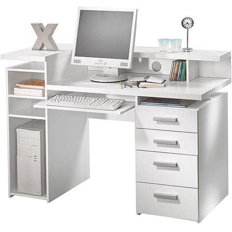 white office desk with hutch whitman office desk with hutch white walmart com