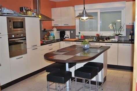 plan de cuisine moderne avec ilot central cuisine ilot central table manger galerie avec cuisine