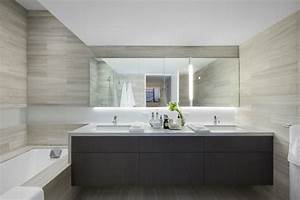 salle de bain grise epuree