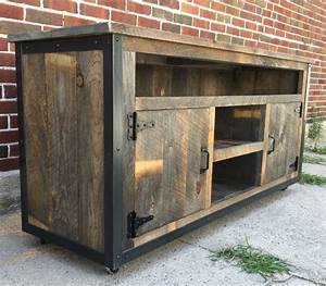Tv Board Industrial Design : rustic industrial weathered barn board entertainment center tv ~ Michelbontemps.com Haus und Dekorationen