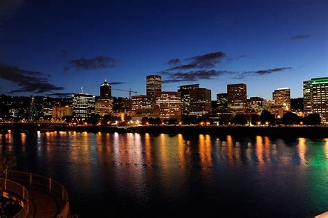 portland city lights oregon of light
