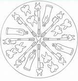 Sundial Template Boyama Coloring Pages Mandala Sketch sketch template