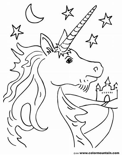 Unicorn Coloring Pages Activity Colormountain