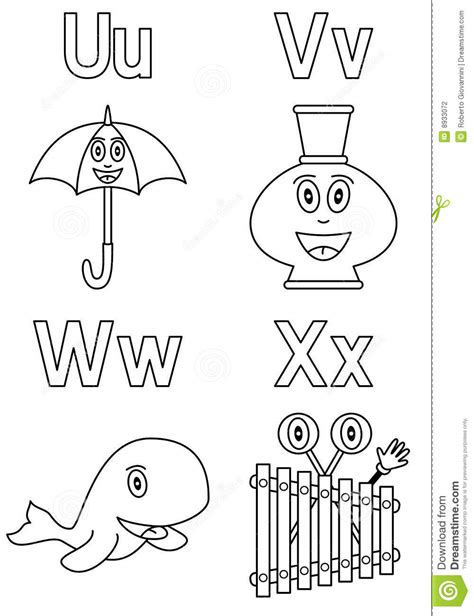 Coloring Alphabet For Kids [6] Stock Photography - Image