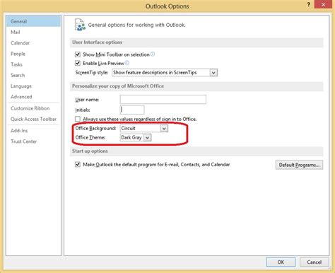 Outlook 2013 Background Color How To Change Office 2013 Background Pattern Into Windows