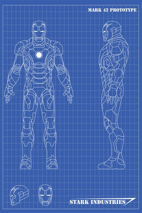 iron man blueprints mk42 by nickgonzales7 deviantart com