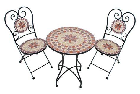Tisch 2 Stühle by 3 Tgl Gartenm 246 Belset 187 Mosaik 171 2 St 252 Hle Tisch 216 60 Cm