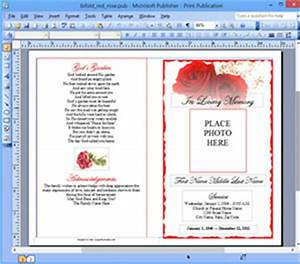 funeral program template microsoft publisher memorial ms With free funeral program template publisher