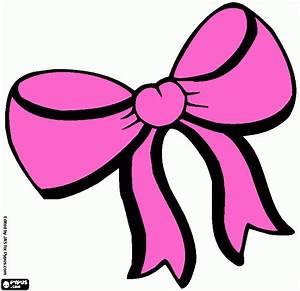 Laço rosa para imprimir , desenho Laço rosa