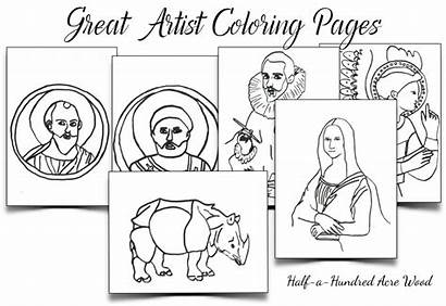 Coloring Artist Pages Commission Blackline Giotto Artists