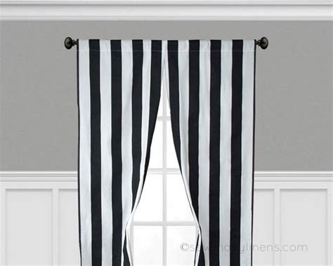 Black Stripe Curtains Vertical Window Treatments Black And Coc Kitchen Sink Stainless Sinks Drop In Kohler Undermount White Black Coloured Kitchens Steel Nz Clogged Garbage Disposal Frog The Song