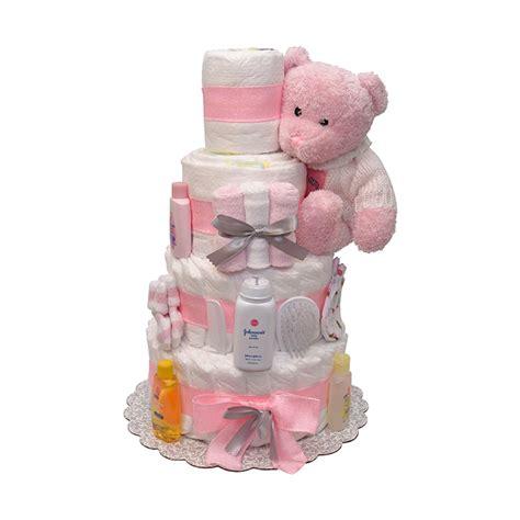 sweet dreams baby girls diaper cake  tiers