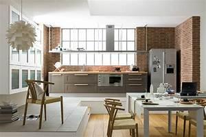 Salon Cuisine Ouverte : charmant idee deco salon cuisine ouverte avec deco salon ~ Melissatoandfro.com Idées de Décoration