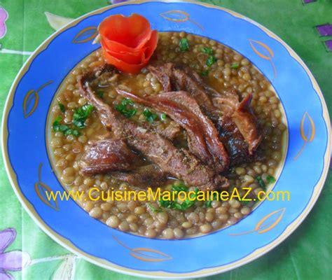 cuisine de a à z entrées lentilles à la viande séchée kadid la cuisine
