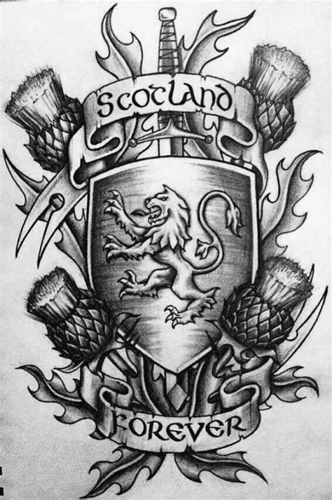 Scotland Forever graphic tattoo | Best Tattoo Ideas Gallery